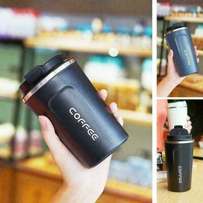 Insulated Coffee Mug Cups Travel Thermal Stainless Steel Flask Vacuum Leakproof • 8.99£