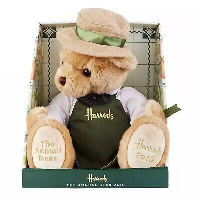 Harrods 'grocer' Annual Bear 2019 With Free Lge Harrods Carrier Bag Bnwt • 47.50£