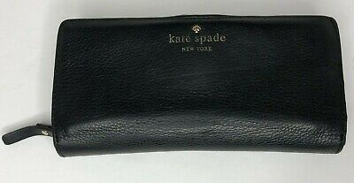 $ CDN39.55 • Buy Kate Spade Black Leather Bi-fold Credit Card Wallet With Zipper Compartment