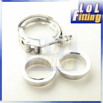 $ CDN27.90 • Buy 2  Inch Stainless Steel V-Band Quick Release Clamp & SS Male/Female Flange