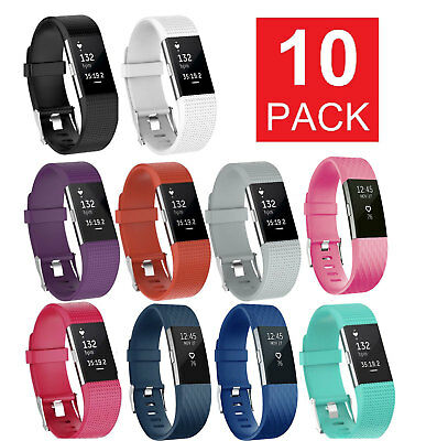 $ CDN15.72 • Buy 10 Pack Replacement Wristband For Fitbit Charge 2 Band Silicone Fitness Sport