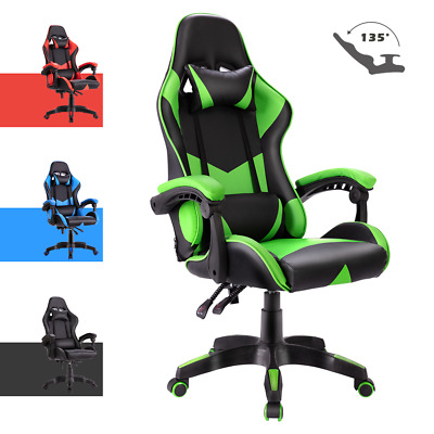 AU125.90 • Buy Computer Gaming Chair W/ Headrest&Backrest Racer Executive Office Seat Recliner