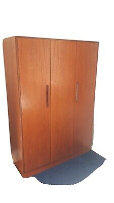 G Plan Fresco Teak Bi Fold Triple Wardrobe 1960s Retro • 200£