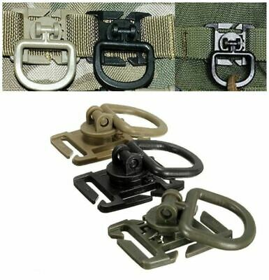 Swivel D Ring Clip Molle Webbing Clamp Tactical Backpack Strap Hiking • 1.99£