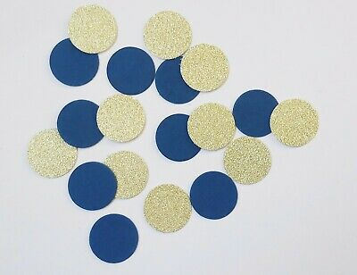 £2.85 • Buy Handmade Circle Table Confetti - Navy And Gold