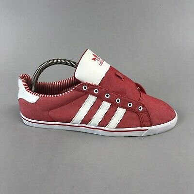 Adidas Court Star Slim Mens Shoes Size UK 7 Red White Trainers Sneakers • 22.48£