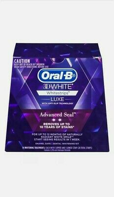 AU28.95 • Buy Oral B 3D White Luxe Advanced Seal Teeth Whitening White Strips 14 Pack