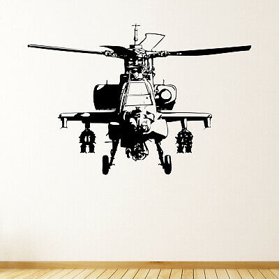 $21.54 • Buy Military Helicopter Wall Sticker Decal Transfer Kids Bedroom Boys Army Vinyl UK
