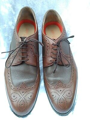 Men's M&S Airflex Brogues Two Tone Brown Size 10 New • 24.99£