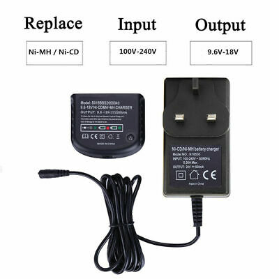 Battery Charger Fit For Black Decker 18V A1712 A1718 A12 A18 FSB18 Ni-MH Ni-CD- • 11.39£