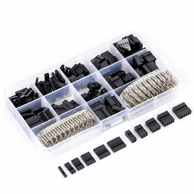 AU10.03 • Buy 620pcs Dupont Wire Pin Header Connector Housing Kit And M/F Crimp Pins