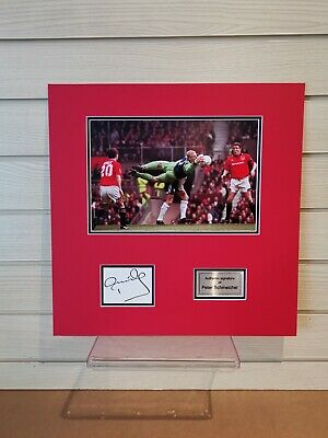 Peter Schmeichel Signed Photo Montage, Mounted Only • 39.95£
