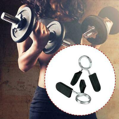 $ CDN4.86 • Buy 2PCS Barbell Bar Clamps Clips Dumbbell Bar Collars Spring Weight Locks Best O3Y6