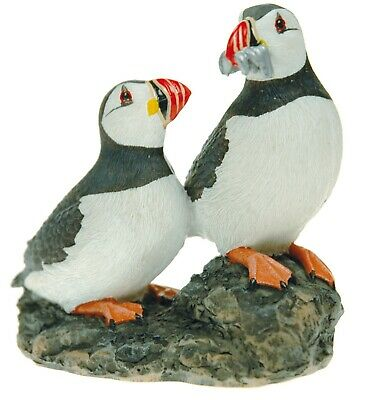 £11.49 • Buy Puffin Pair On Rock Decorative Ornament Figure