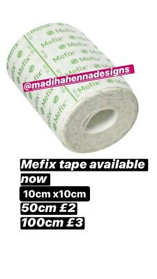 MEFIX ADHESIVE FABRIC DRESSING TAPE (1 Meter )STRAPPING 10CM X10CM • 3£