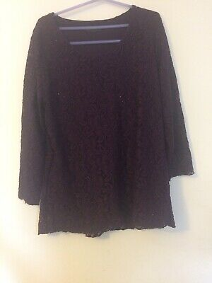 £6.99 • Buy Forever By Michael Gold Purple Long Sleeved Top Large