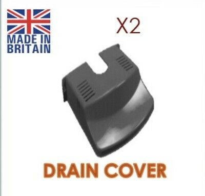 Drain Cover Leaf Guard Cover Tidy  Black Plastic Barrier Protector X2 • 5.70£
