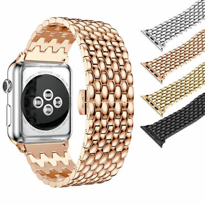 AU15.99 • Buy For Apple Watch IWatch 6/5/4/3/21 Stainless Band Watch Strap Bracelet 38/42/44mm