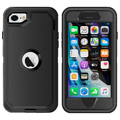AU12.99 • Buy For IPhone 7 8 SE 2020 Case Heavy Duty Shockproof Hybrid Rubber Full Body Cover