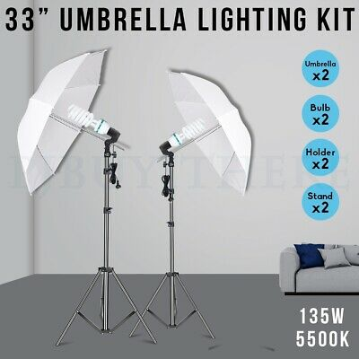 AU49.99 • Buy 2x135w Photography Soft Umbrella Lighting Reflector Continuous Light Stand Kit