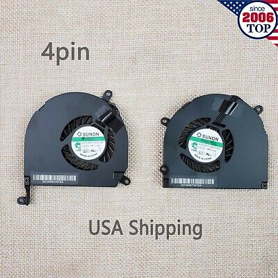 $17.99 • Buy Left & Right CPU GPU Cooling Fan For Apple Macbook Pro 15  A1286 2009 2010 2011