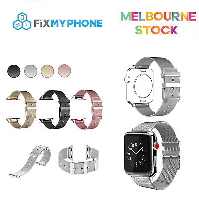 AU15.95 • Buy Apple Watch Series 5 4 3 2 1 Milanese Strap Stainless Steel Buckle IWatch Band