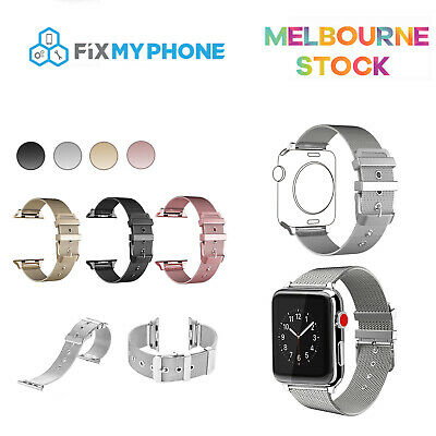 AU15.95 • Buy Apple Watch Series 6 5 4 3 2 1 Milanese Strap Stainless Steel Buckle IWatch Band