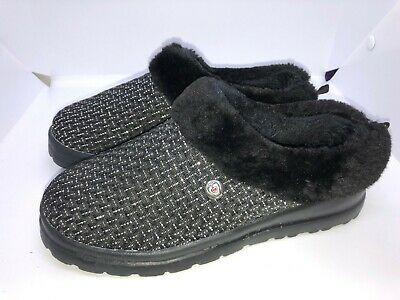Skechers Bobs Keepsakers Womens's Casual Slippers Size 3 Charcoal Excellent Cond • 29.90£