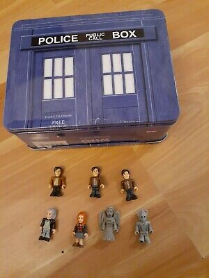 £14.33 • Buy Dr. Who Tin Tote Lunch Box & Build A Character 50th Anniversary Figure Lot