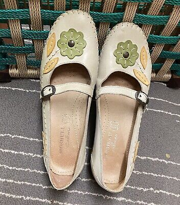 £13.99 • Buy Moshulu Colours Leather Casual Non Slip Shoes Size Uk 4 /37 Beige Floral