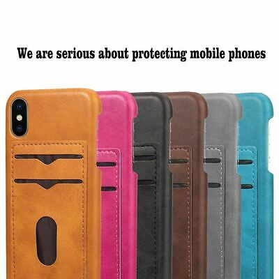 AU7.59 • Buy Leather Card Holder Hard Case Cover For Apple IPhone 11 Pro Max XR XS 8 7+ 6S SE