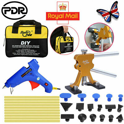UK Paintless Dent Repair Removal Kit PDR Tools Puller Lifter & 17PCS Glue Tabs • 21.91£