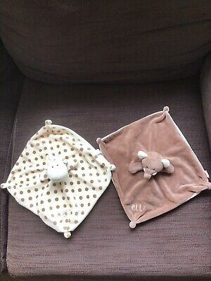 £9.99 • Buy Two Comforters Raff And Elli Baby Soother Giraffe Elephant B & M Retail