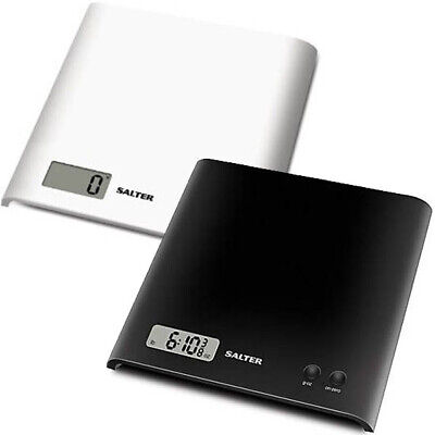 Salter Arc Kitchen Scales Electronic Digital Add & Weigh - Black Or White • 12.99£