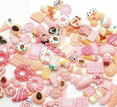 Mix Fake Food Sweets, Lolly Cakes Cookies Muffins Cabochon CB2 Select Amount • 2.99£