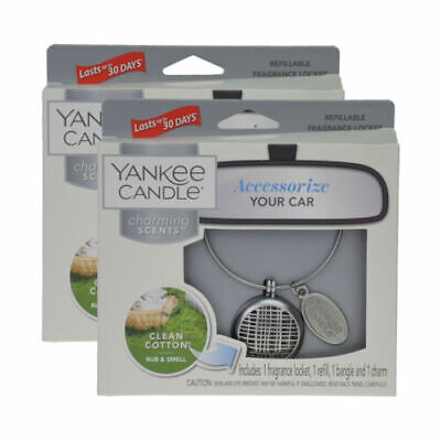 Yankee Candle Clean Cotton Charming Scents Car Air Freshener Fragrance Gift • 8.99£