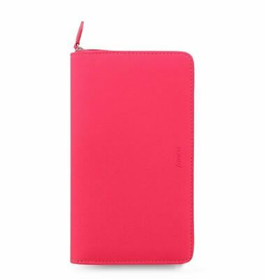 Filofax Saffiano Personal Compact Fluoro Organiser Pink Wallet Functionality • 34£