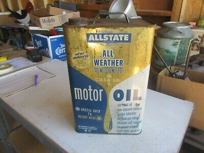 $ CDN46.14 • Buy Vintage 2 1/2 Gallon Oil Can Sears Allstate Very Rare Blue Color Lot 20-62