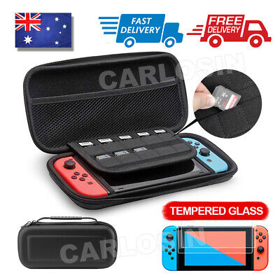 AU13.85 • Buy For Nintendo Switch Carry Storage Case Console Protective Bag + 2xTempered Glass