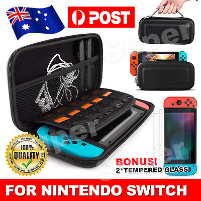 AU13.85 • Buy For Nintendo Switch Carry Bag Storage Case Console Protect Shell Tempered Glass