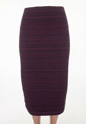 $ CDN60.32 • Buy LULULEMON 10 Tube And From Skirt Cyber Red Grape Bordeaux Drama Striped Pencil