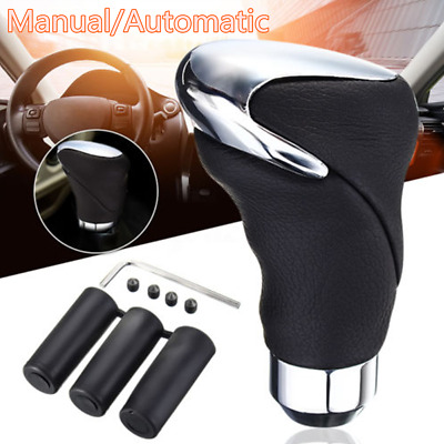 $14.62 • Buy Automatic & Manual Gear Shift Knob Shifter Handle Lever Stick Genuine Leather
