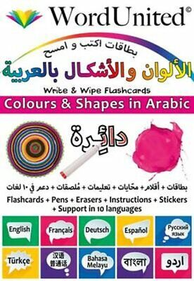 Colours And Shapes In Arabic Write & Wipe Flashcards 9781911333029 | Brand N • 9.49£