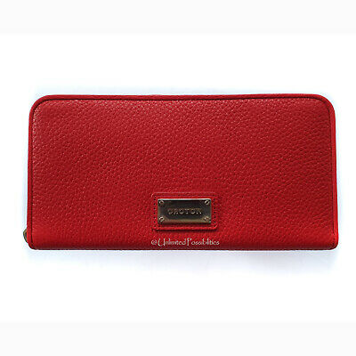 AU149.95 • Buy NEW OROTON Kiera Large Multi Pocket Zip Leather Wallet Clutch Real Red Tags Box