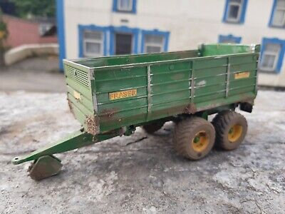 Rare Britains Conversion Weathered Fraser Grain Trailer  For Tractor Siku  • 45£