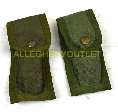 $ CDN9.78 • Buy Lot 2 US Military Army 9MM Mag Magazine Ammo Pouch W/ Alice Clips OD Green VGC