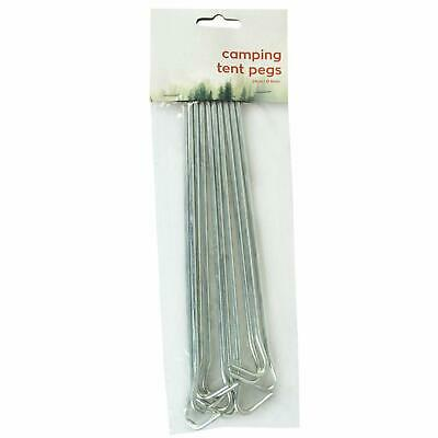 10 X Heavy Duty Galvanised Steel Tent Pegs Metal Camping Ground Sheet Anchor • 3.65£
