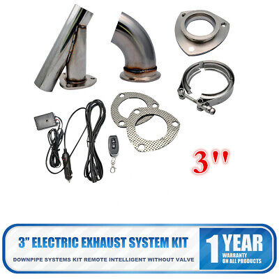 AU135.15 • Buy 3  Exhaust Catback Y-pipe Downpipe System+Remote Electric Kit With Manual New