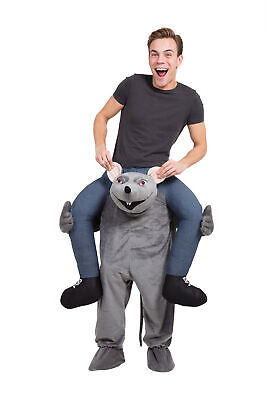 £36.99 • Buy Rat Piggyback Costume Adults Carry Me Animal Halloween Fancy Dress Outfit Mens