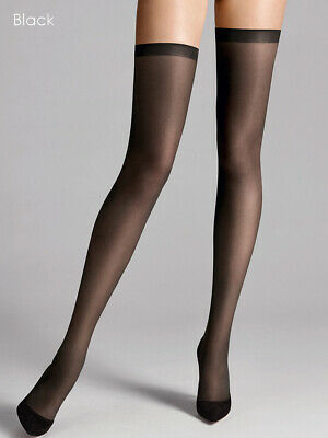 Wolford Fatal 15 Seamless Stay Ups, 15D Sheer Thigh High Hold Ups No Seams • 27.46£
